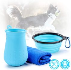 Tikaton Dog Walking Set, Dog Paw Cleaner, Portable Dog Bowl for Walking Dog #doggrooming