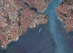 İstanbul'u yukarıdan görüntüledi