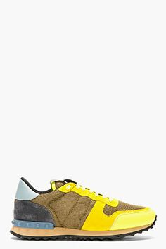 VALENTINO Umber Studded Running Shoes