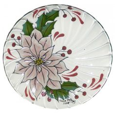 Poinsettia Glass Plate (2008 Retreat Holiday)(Hardcopy)--Colors for Earth