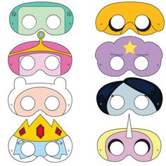 Adventure Time Inspired Printable Masks