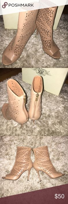 Rachel Roy booties Fairly NEW !!! Nude Booties very cute and also comfortable Rachel Roy Shoes Ankle Boots & Booties