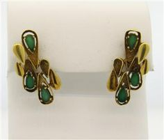 1970s 18K Gold Chrysoprase Earrings Featured in our upcoming auction on June 14!