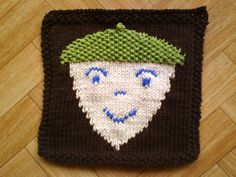 Baby washcloth knitting pattern  Acorn decor by CuteCreationsByLea, $4.00