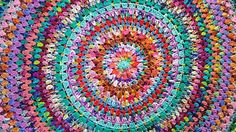 Giant scrappy granny mandala in hand dyed yarn - gorgeous :)