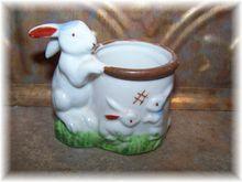 Bunny Mom & Babies Ceramic Egg Cup Japan