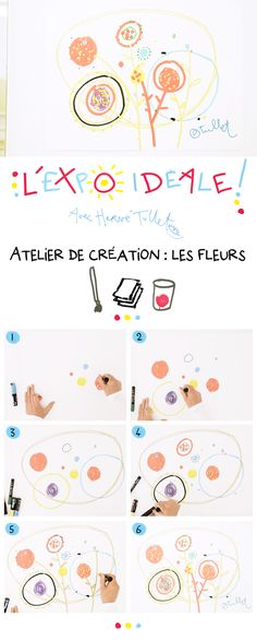 Recreation: The Flowers - L'expo idéale Hervé Tullet leads a flower workshop and brings together all generations around a great collaborative creation. Social Emotional Activities, Educational Activities, Activities For Kids, Art Mat, Atelier D Art, Ecole Art, Herve, Expo, Art Graphique