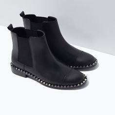 If only the heel were higher... STUDDED LEATHER ANKLE BOOT from Zara