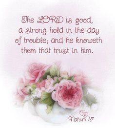 ❤❤❤ Nahum 1:7 | Loving pink