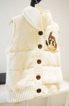 Classic wool and cotton vest waistcoat buckles