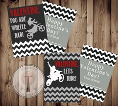 Moto-Tine, MotoX Valentines INSTANT DOWNLOAD, Printable Valentine Cards, kids valentines, motocross, motorcycle, dirtbike by T3DesignsCo on Etsy https://www.etsy.com/listing/174998838/moto-tine-motox-valentines-instant