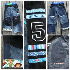 Geburtstagshose aus 4 alten Jeans / Birthday pants made of 4 old pairs of jeans