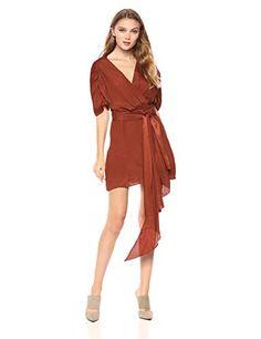 C/MEO COLLECTIVE Women's Eminence V Neck Short Sleeve Mini Dress Wrap Dress, Dress Up, Best Sellers, Designer Dresses, Short Sleeves, V Neck, Mens Fashion, Elegant, Mini