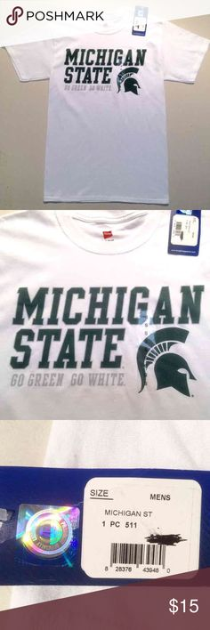 Michigan State Tshirt - NEW Michigan State Spartans Men's Tshirt Size Small   New with tags  Get it before March Madness! Hanes Shirts Tees - Short Sleeve