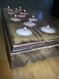 Candles tray made of recycled pallet wood in pallet home decor  with Tray pallet Candle