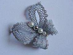 Odznaky/Brošne - Strieborný motýľ - 5848928_