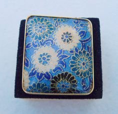 25% OFF !! Versatile blue brooch/pendant with flowers - made in Japan by Framarines on Etsy