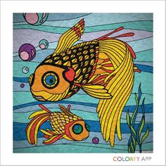 Colorfy, a free app on the Kindle Fire HD. I had fun coloring the fishes.