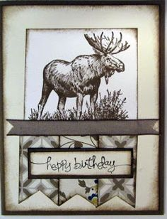 Crafty Maria's Stamping World: Walk in the Wild Birthday - Technostamper #268