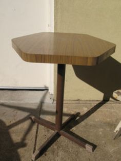 $25 Retro SMALL CAFE TABLE Hexagon High Table 54x72cm Text 0411691171 or email info@bitspencer.com