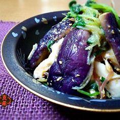 ナスと蒸し鶏の梅ソース by 山本真希 at 2015-05-07