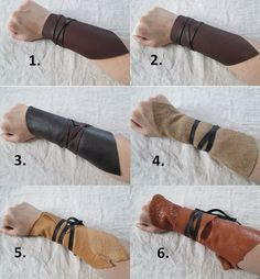 wrapped wrist bracers