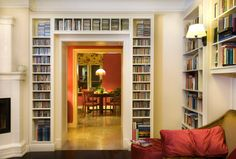 biblioteka drewniana
