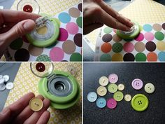 Custom button tool from Epiphany Crafts. I've wanted one of these since I first saw it.