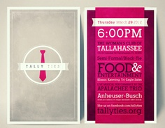 Tally Ties Celebrity Benefit by Quintavious Shephard, via Behance