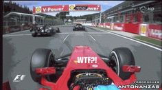 Grosjean banzi move at Spa 2012 from Alonso's point of view!