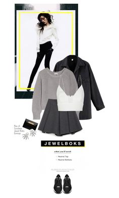 """Jewel Boks"" by juhh ❤ liked on Polyvore featuring Oak, Zara, Balenciaga, Narciso Rodriguez and jewelboks"