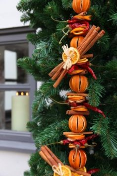 Chilli, Apple and Orange Garland - £12.00 : Potpourri