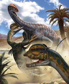 Dilophosaurus lived in a time 200 million years ago. Its crest on it's head was most likely used for mating displays. With efficient knife like teeth and sharp claws it was fast and nimble.