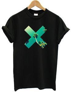X Palm Tree Printed T-shirt - Spring T-shirts #Spring #Tshirts