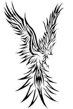 Cardinal of fire by xxfreexxlancerxx Rising Phoenix Tattoo, Phoenix Tattoos, Mythological Creatures, Tribal Tattoos, Tatoos, Cardinals, Mythology, Freaking Awesome, Coloring Pages