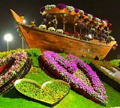 The Abra boats at the Dubai Miracle Garden offered perfect photography opportunities for its visitors. Different Flowers, Large Flowers, Colorful Flowers, Million Flowers, Petunia Flower, Purple Petunias, Miracle Garden, Big Naturals, Floral Theme