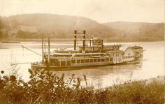 "An old photo of the steamboat, ""City of Cincinnati"""