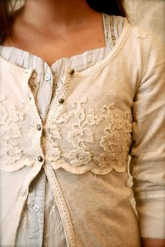 very romantic cardigan and top combo