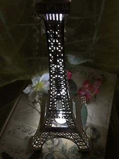 Good Eiffel Tower Paris Metal Stand Model Table Decor W/Extra LED Waterproof  Light