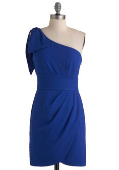 Vibrant, one shoulder cocktail dress.  Great for an evening wedding :)