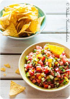 Wassermelonen-Salsa My Favorite Food, Favorite Recipes, Watermelon Salsa, Food Porn, Recipe Finder, Campfire Food, Food Trends, Foods To Eat, Food Network Recipes