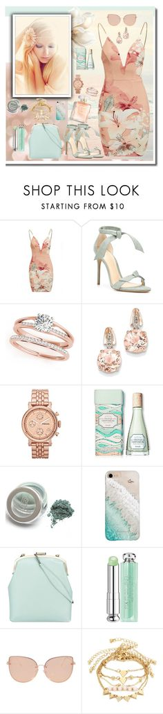 """Sin título #1348"" by gigi ❤ liked on Polyvore featuring Ginger Fizz, Alexandre Birman, BillyTheTree, FOSSIL, Benefit, Gray Malin, Tammy & Benjamin, Christian Dior, Topshop and dress"