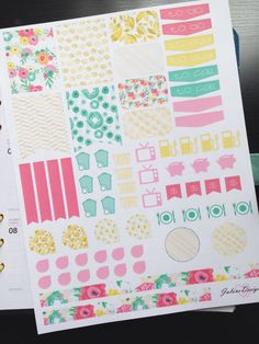 Bloom & Gold  Monthly Assorted Planner Sticker Set perfect for Erin Condren, Filofax, Kikki K, Plum Paper Planner