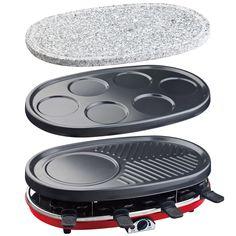 H.Koenig RP418 Appareil à Raclette 4 en 1 Rouge: Amazon.fr: Cuisine & Maison