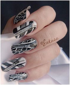 finger nail designs on pinterest finger nails finger nail art and fingers. Black Bedroom Furniture Sets. Home Design Ideas