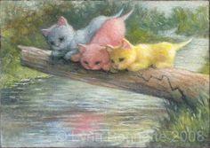 A Rainbow of Kitties