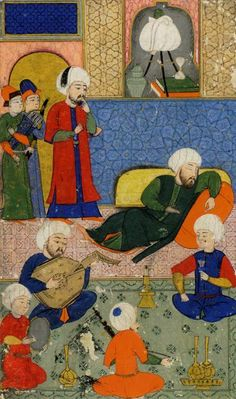 SULTANLARIN ZAFERLERI  Miniature Artist:Nakkaş Osman Date: 972 - 973 / 1565 Explanation:Gülistân adlı eserden Seri No: 5352 Medieval Furniture, Islamic Paintings, Persian Culture, Anime Drawings Sketches, Turkish Art, Oriental, Medieval Art, Ottoman Empire, Illuminated Manuscript