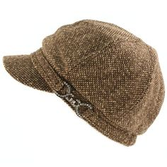 89f8486b6c8 Winter Fall Wool Tweed Crystal Buckle Belt Newsboy Cabbie Cap Hat Black at  Amazon Women s Clothing store  Hat For Teen Girls