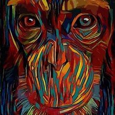 'Hermano mayor - Léa Roche paintings -gorilla, monkey, singe, gorille' by LEA ROCHE Monkey, Paintings, Poster, Art, Older Siblings, Congratulations Card, I Phone Cases, Canvases, Sisters