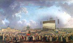 Pierre-Antoine Demachy, Fête de la plus haute du football (1794) – Public Viewing 1794, Eröffnungsspiel Frankreich gegen Rumänien
